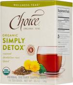 Choice Organic Teas Organic Simply Detox -- 16 Tea Bags - Pack of 3