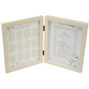 My First Year And My First Birthday Cream Baby Photo Frame By Haysom Interiors