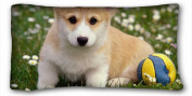 Custom Characteristic ( Dogs Corgi ) Pillowcase Cover 50cm x 90cm One Side suitable for Full-bed PC-Purple-19045
