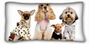 Custom Characteristic ( Dogs Dog ) Popular 50cm x 90cm One Side Pizza Rectangle Pillowcase suitable for Full-bed PC-Purple-19048