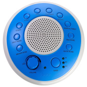 SONEic - Sleep, Relax and Focus Sound Machine. 10 Soothing White Noise and Natural Sound Tracks, with Timer Option. Crystal Clear Quality Sound Speaker and 3.5mm Headphone Jack, with Volume Control. USB or Battery Powered. Portable and Stylish - Blue