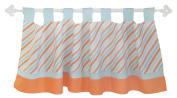 My Baby Sam Penny Lane Curtain Valance, Orange/Aqua