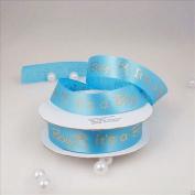 "Baby Shower Printed Satin Ribbon ""It's a Girl & Boy"" 1cm - 2.2cm 25 Yard Roll"