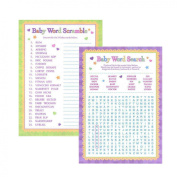 Adorox Baby Shower Word Search & Word Scramble games for Boy & Girl