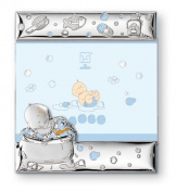 Silver Touch USA Sterling Silver Bath Time Picture Frame, Blue