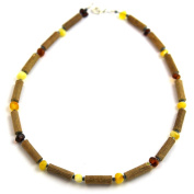 Hazelaid (TM) Child Hazelwood-Amber Necklace - 34cm Multicoloured