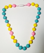 GUMEEZ JUNIOR BUTTER MINT NECKLACE - YELLOW, PINK, TURQUOISE 3+