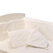 Living Textiles Jersey Pintuck Bumper, White