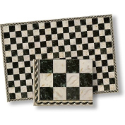 1:24 Dollhouse Flooring Faux Marble Black Chequered Floor Tile
