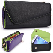 Black and Purple Crossbody Case for Apple iPhone 6 6s Plus 14cm Smartphone Phablet