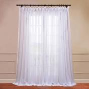 Half Price Drapes SHCH-VOL1-108-DLSW Signature Sheer Curtain, White