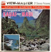 Classic ViewMaster - United States Travel -The Hawaiian Islands of Kauai and Maui- ViewMaster Reels 3D - Unsold store stock - never opened