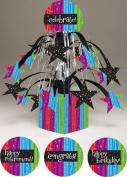 Pack of 6 Multi-Colour Milestone Celebrations Mini Cascade Foil Party Centrepieces