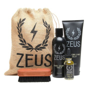 Zeus Deluxe Beard Grooming Kit for Men - Beard Care Gift Set to Soften Hairs and Prevent Itchiness and Dandruff