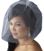 Alyonka Women's Single Layer Fine Wedding Bridal Birdcage Veil with Scattered Pearls