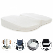 Milliard Coccyx Seat Cushion, Foam Comfort Orthopaedic Coccyx Wedge Pillow for Tailbone Pain and Injury