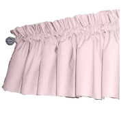 bkb Solid Colour Window Valance, Pink/Light Blue