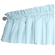 bkb Solid Colour Window Valance, Light Blue