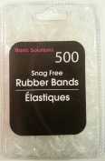 500 Snag Free Rubber Bands - Clear