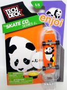 Tech Deck TD Skate Co Series 2 Enjoi Panda Fingerboard w Stand & Sticker New 2015