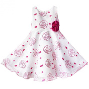 YiZYiF Baby Toddlers Girls Flower Party Formal Pageant Christening Dress
