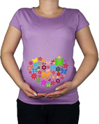 Maternity Pregnancy size 10 - 20 Butterfly Heart Love Print Top Tunic T-Shirt