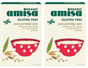 (2 Pack) - Amisa - Org G/F Porridge Oats | 325g | 2 PACK BUNDLE