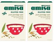 (2 Pack) - Amisa - Org G/F Porridge Oats | 325g | 2 PACK BUNDLE