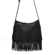 Orien Women Fringe Tassel Shoulder Messenger Girl Handbag Bag