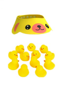 ReachTop Adjustable Bear Baby Kid Safe Shampoo Protect Hat with One Dozen Duck