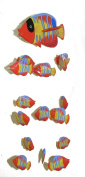 Red Kissing Fish Mobile from Bali with 16 Hand Painted Fish - Suitable for Children - Fair Trade