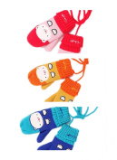 PromiseTrue Baby Cute Cartoon Cat Face Knitting Wool Gloves Pack of 3 Pairs