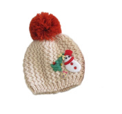 ReachTop Fashion Lovely Baby Kids Girls Boys Warm Winter Snowman Knit Crochet Hat, Beige