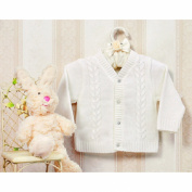 3788 Boys' Knitted Jacket for Baptism White Size 74