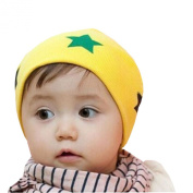 Waboats Winter Girls Infant Unisex-Baby Stars Cotton Hat Yellow