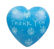 Blue Thank You Soapstone Heart 4cm x 4.5cm