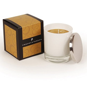 Pintail Candles Large Scented Candle in White Glass - Cinnamon & Mandarin
