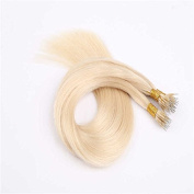 Sexyqueenhair Straight Nano Human Virgin Hair Extensions 46cm Pack of 3Pcs 100g Per Piece Blonde Colour