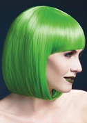 Womens Halloween Deluxe Cute Gothic Neon Green Elise Wig