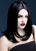 Womens Halloween Deluxe Gothic Layered Black Sophia Wig