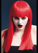 Womens Deluxe Gothic Long Straight Red Alexia Wig
