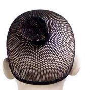 1 Pair Nylon Stretchable Black Hair Wig Mesh Net Wig Cap