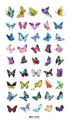 Body Art Temporary Removable Tattoo Stickers Little Butterflies RC315 Sticker Tattoo - FashionLife