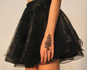 Body Art Temporary Removable Tattoo Stickers Flower Black Lace WF-T18 Sticker Tattoo - FashionLife