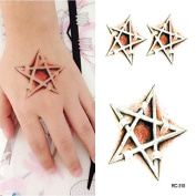 Body Art Temporary Removable Tattoo Stickers Star RC318 Sticker Tattoo - FashionLife