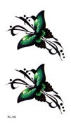 Body Art Temporary Removable Tattoo Stickers Butterfly RC302 Sticker Tattoo - FashionLife
