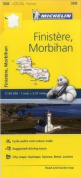Finistere, Morbihan France Local Map 308