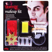 Easy Mens Womens Kids Face Paint Make-up kit Vampire with Fangs Sponge Kit Set Count Dracula Halloween Set