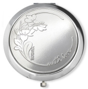 Vanroe 'Daisy with Love' Designer Compact Mirror in Gift Box - Magnified, Engravable, Luxury anniversary & birthday present