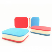 LZC 4Pcs Facial Makeup Sponge Powder / Cream / Liquid Face Blender Foundation Puff Flawless Smooth - Red + Blue Rectangle